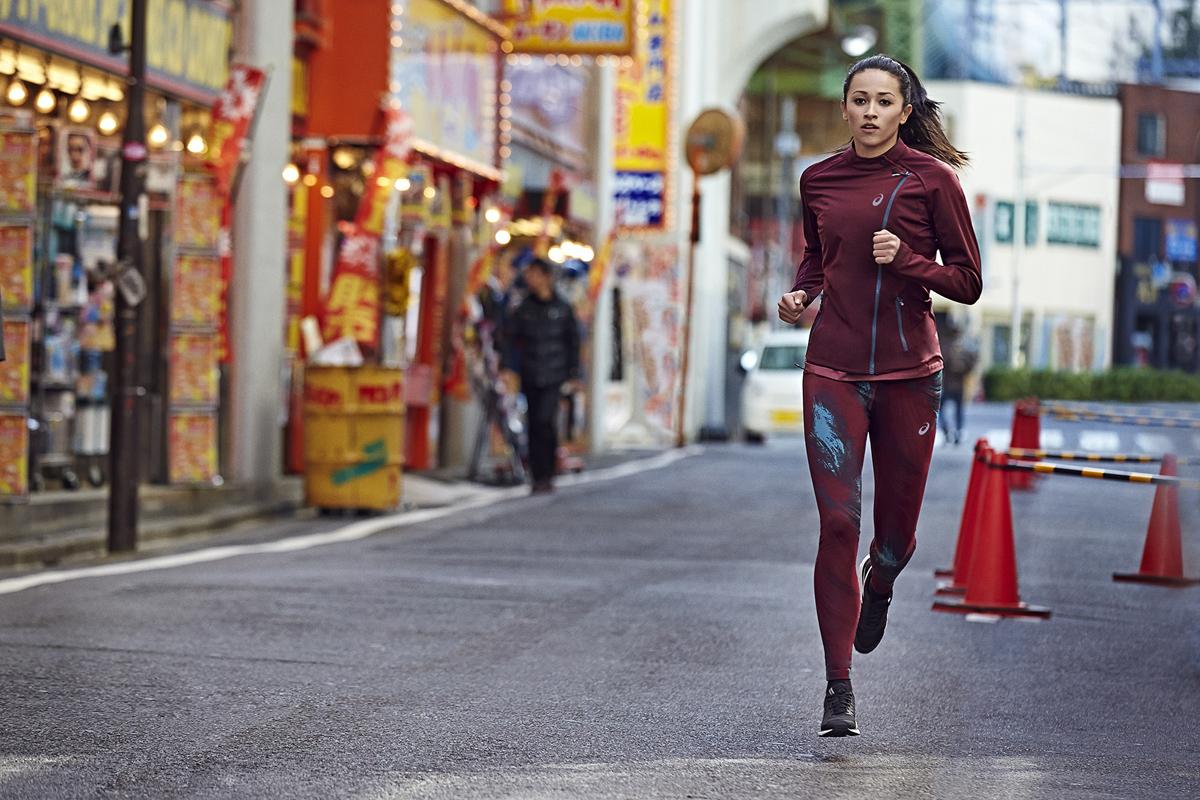 asics donna running abbigliamento